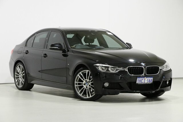 Used BMW 320i F30 LCI M Sport, 2017 BMW 320i F30 LCI M Sport Black 8 Speed Automatic Sedan