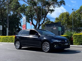2019 Volkswagen Polo AW MY20 85TSI DSG Style Black 7 Speed Sports Automatic Dual Clutch Hatchback.