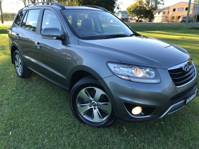 Pre-Owned Hyundai Santa Fe CM MY12 Highlander South Grafton, 2012 Hyundai Santa Fe CM MY12 Highlander Grey 6 Speed Sports Automatic Wagon