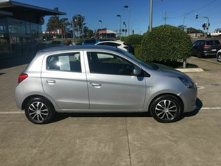 2013 Mitsubishi Mirage LA MY14 ES Silver 5 Speed Manual Hatchback.