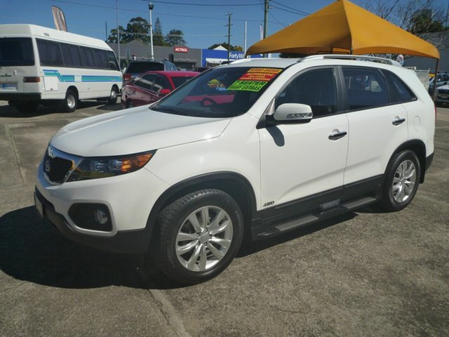 Used Kia Sorento XM MY10 SLi, 2010 Kia Sorento XM MY10 SLi White 6 Speed Sports Automatic Wagon