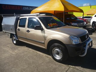 2006 Holden Rodeo RA MY06 LX Crew Cab 4x2 Gold 5 Speed Manual Utility.