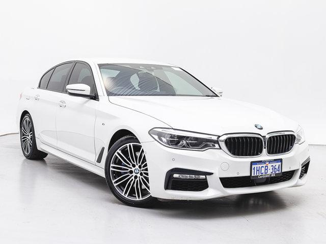 Used BMW 530d G30 MY17 M Sport, 2018 BMW 530d G30 MY17 M Sport White 8 Speed Automatic Sedan
