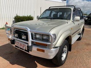 1996 Toyota Landcruiser FZJ80R GXL Silver 4 Speed Automatic Wagon.