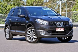 2011 Nissan Dualis J10 Series II MY2010 +2 Hatch X-tronic Ti Black 6 Speed Constant Variable.