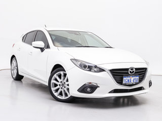 2014 Mazda 3 BL Series 2 MY13 SP25 White 5 Speed Automatic Hatchback.