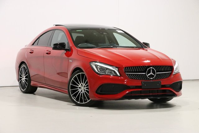 Used Mercedes-Benz CLA250 117 MY17 4Matic, 2017 Mercedes-Benz CLA250 117 MY17 4Matic Red 7 Speed Auto Dual Clutch Coupe