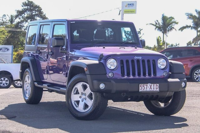 Used Jeep Wrangler JK MY17 Unlimited Sport, 2017 Jeep Wrangler JK MY17 Unlimited Sport Purple 5 Speed Automatic Softtop