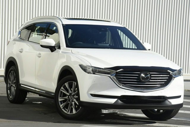 New Mazda CX-8 KG2W2A GT SKYACTIV-Drive FWD Hindmarsh, 2021 Mazda CX-8 KG2W2A GT SKYACTIV-Drive FWD Snowflake White 6 Speed Sports Automatic Wagon