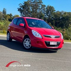 2011 Hyundai i20 PB MY11 Active Red 5 Speed Manual Hatchback.
