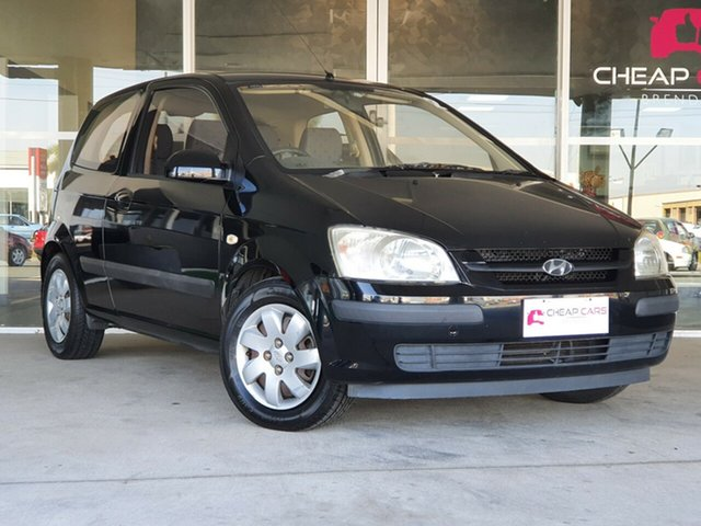 Used Hyundai Getz TB MY04 GL Brendale, 2004 Hyundai Getz TB MY04 GL Black 5 Speed Manual Hatchback
