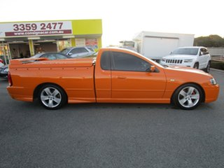 2007 Ford Falcon BF Mk II XR8 Ute Super Cab Orange 6 Speed Manual Utility