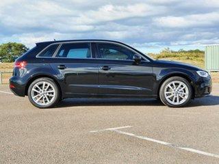 2016 Audi A3 8V MY17 Sportback S Tronic Black 7 Speed Sports Automatic Dual Clutch Hatchback.