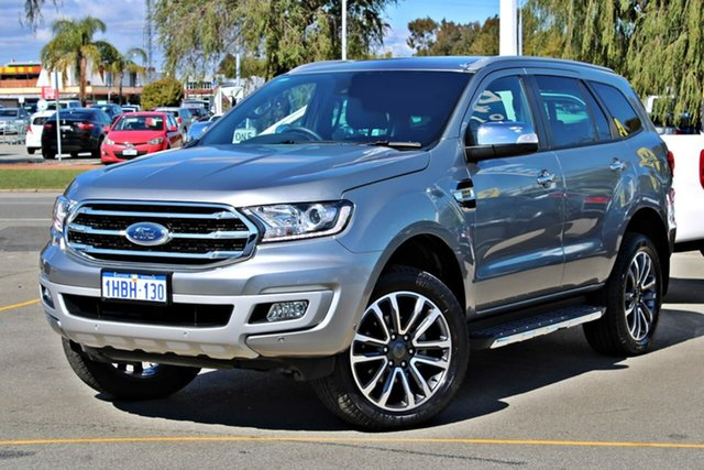 Used Ford Everest UA II 2019.75MY Titanium, 2019 Ford Everest UA II 2019.75MY Titanium Silver 10 Speed Sports Automatic SUV