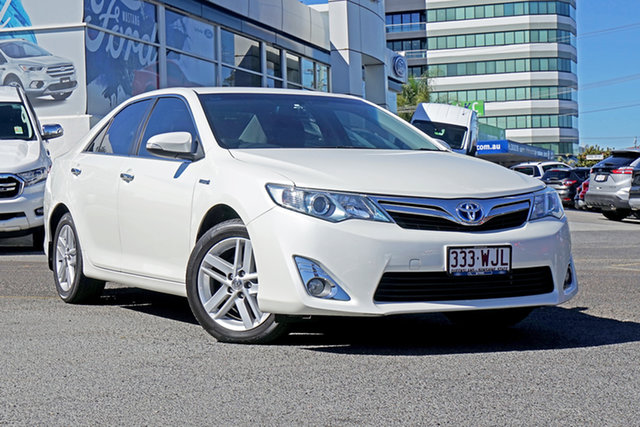 Used Toyota Camry AVV50R Hybrid HL, 2012 Toyota Camry AVV50R Hybrid HL White 1 Speed Constant Variable Sedan Hybrid