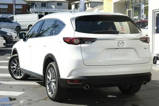 2021 Mazda CX-8 KG2W2A GT SKYACTIV-Drive FWD Snowflake White 6 Speed Sports Automatic Wagon.