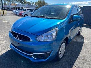 2018 Mitsubishi Mirage LA MY18 ES Cyber Blue 1 Speed Constant Variable Hatchback