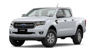 2021 Ford Ranger PX MkIII 2021.25MY XLS Arctic White 6 Speed Manual Double Cab Pick Up.