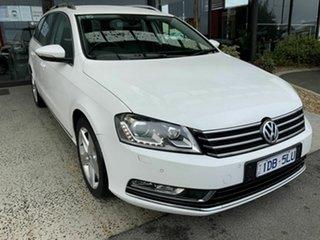 2014 Volkswagen Passat 3C MY14 118 TSI White 7 Speed Auto Direct Shift Wagon.