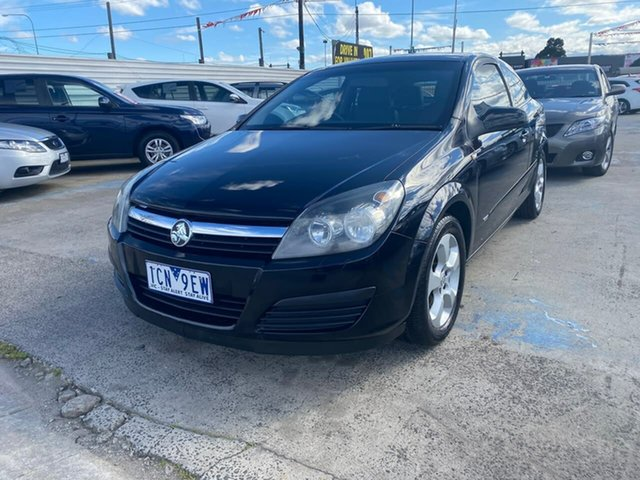 Used Holden Astra AH MY06 CDX Maidstone, 2006 Holden Astra AH MY06 CDX Black 5 Speed Manual Coupe