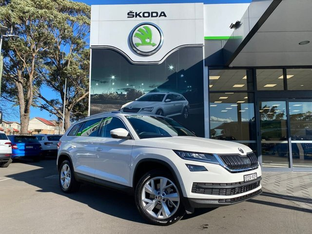 Used Skoda Kodiaq NS MY19 132TSI DSG, 2019 Skoda Kodiaq NS MY19 132TSI DSG White 7 Speed Sports Automatic Dual Clutch Wagon
