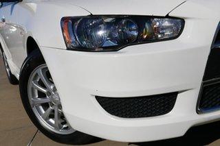 2013 Mitsubishi Lancer CJ MY13 LX Sportback White 5 Speed Manual Hatchback.