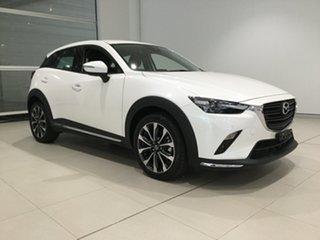 2019 Mazda CX-3 DK4W7A sTouring SKYACTIV-Drive i-ACTIV AWD Snowflake White 6 Speed Sports Automatic.