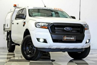 2016 Ford Ranger PX MkII XL 2.2 Hi-Rider (4x2) White 6 Speed Automatic Crew Cab Chassis.