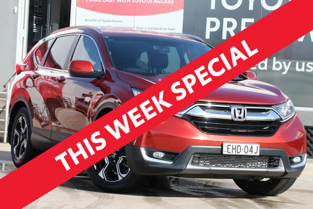 Used Honda CR-V MY19 VTi-E7 (2WD), 2019 Honda CR-V MY19 VTi-E7 (2WD) Passion Red Continuous Variable Wagon