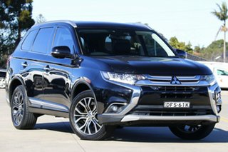 2016 Mitsubishi Outlander ZK MY17 Exceed 4WD Black 6 Speed Constant Variable Wagon.