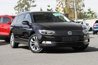 2017 Volkswagen Passat 3C (B8) MY17 132TSI DSG Black 7 Speed Sports Automatic Dual Clutch Wagon.