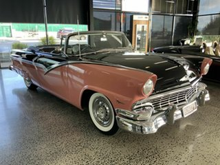 1956 Ford Fairlane Sunliner Black Convertible.