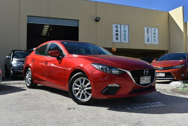 Used Mazda 3 BL Series 2 MY13 SP20 Skyactiv Luxury Capalaba, 2014 Mazda 3 BL Series 2 MY13 SP20 Skyactiv Luxury Red 6 Speed Automatic Sedan