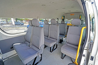 2006 Toyota HiAce KDH223R Commuter High Roof Super LWB White 4 Speed Automatic Bus
