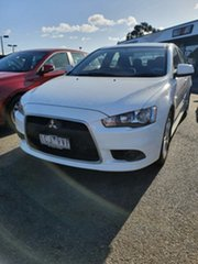 2013 Mitsubishi Lancer CJ MY14 Sport White 5 Speed Manual Sedan.
