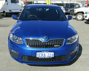 2014 Skoda Octavia NE MY14 RS Sedan 162TSI Blue 6 Speed Manual Liftback.