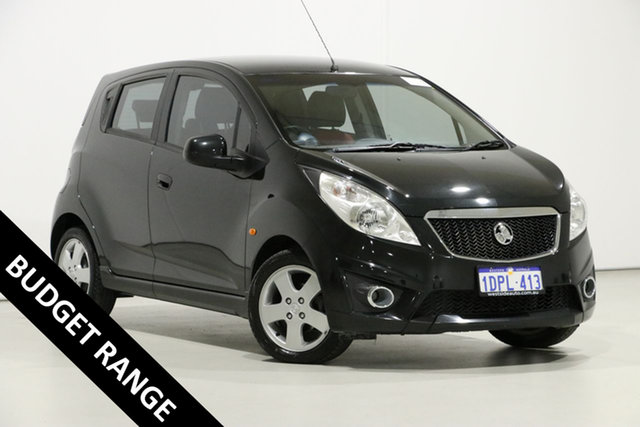 Used Holden Barina Spark MJ Update CDX, 2011 Holden Barina Spark MJ Update CDX Black 5 Speed Manual Hatchback