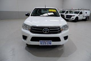 2016 Toyota Hilux GUN123R SR Extra Cab 4x2 White 5 Speed Manual Utility.
