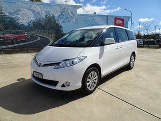 2017 Toyota Tarago ACR50R GLi White 7 Speed Constant Variable Wagon.