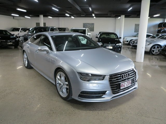 Used Audi A7 4G MY16 S Line Sportback S Tronic Quattro, 2015 Audi A7 4G MY16 S Line Sportback S Tronic Quattro Silver 7 Speed Sports Automatic Dual Clutch
