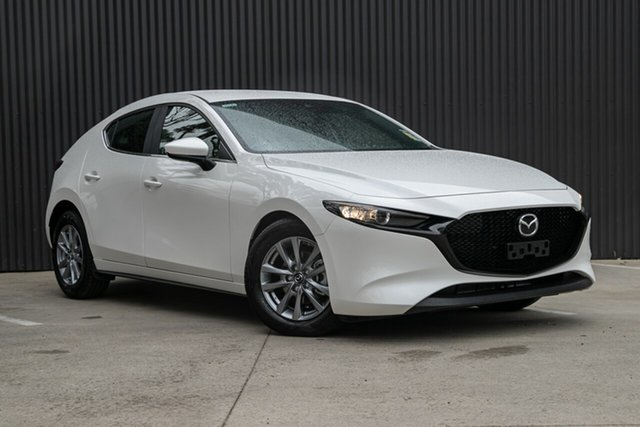 New Mazda 3 BP2H7A G20 SKYACTIV-Drive Pure, 2020 Mazda 3 BP2H7A G20 SKYACTIV-Drive Pure Snowflake White Pearl 6 Speed Sports Automatic Hatchback