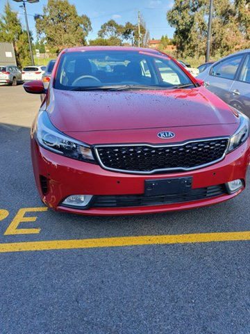 Used Kia Cerato YD MY18 S, 2018 Kia Cerato YD MY18 S Red/Black 6 Speed Sports Automatic Sedan