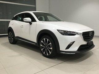 2019 Mazda CX-3 DK4WSA Akari SKYACTIV-Drive i-ACTIV AWD Snowflake White 6 Speed Sports Automatic.