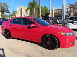 2008 Honda Accord Euro Luxury Red Automatic Sedan.