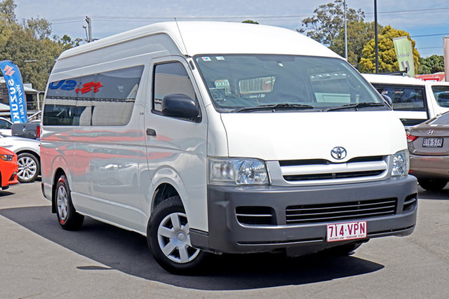 Used Toyota HiAce KDH223R Commuter High Roof Super LWB, 2006 Toyota HiAce KDH223R Commuter High Roof Super LWB White 4 Speed Automatic Bus