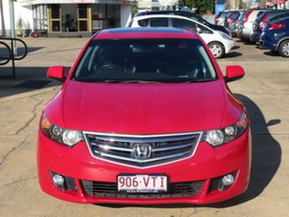 2008 Honda Accord Euro Luxury Red Automatic Sedan