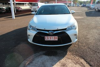2016 Toyota Camry AVV50R Hybrid Crystal Pearl 1 Speed Automatic Sedan.