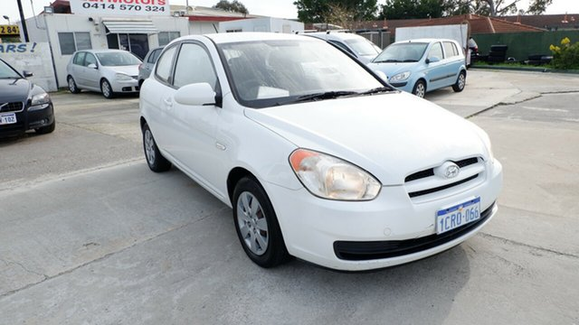 Used Hyundai Accent MC , 2007 Hyundai Accent MC White 5 Speed Manual Hatchback