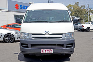 2006 Toyota HiAce KDH223R Commuter High Roof Super LWB White 4 Speed Automatic Bus.