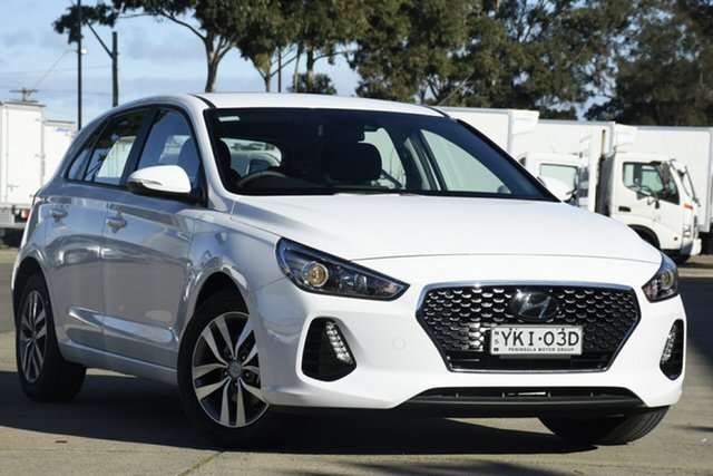 Demo Hyundai i30 PD2 MY20 Active, 2020 Hyundai i30 PD2 MY20 Active Polar White 6 Speed Sports Automatic Hatchback